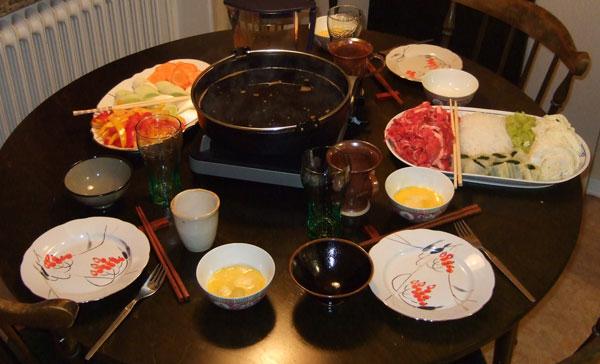 Sukiyaki för 3